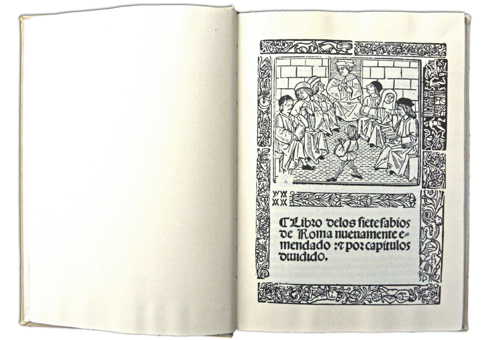 Libro siete sabios Roma-Cromberger-Incunabula & Ancient Books-facsimile book-Vicent García Editores-0 Opened