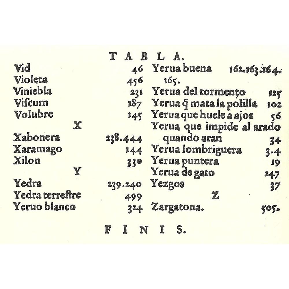 Incunable libro antiguo facs mil historia hierbas - Nombres clasicos espanoles ...