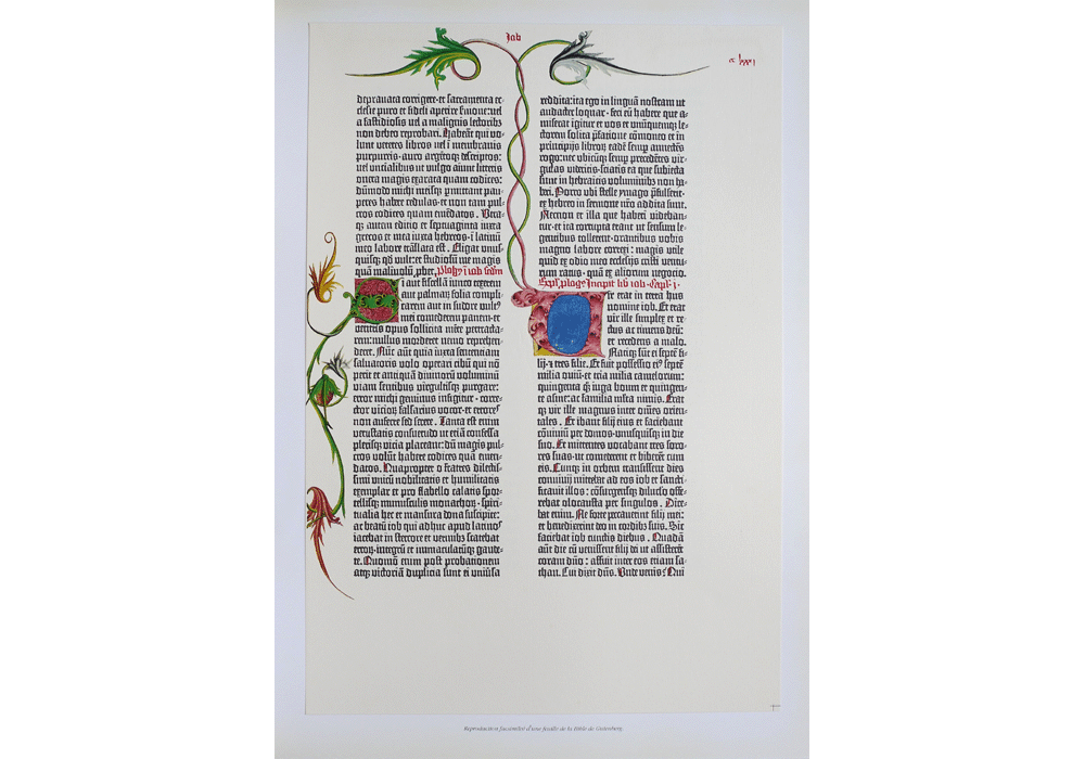 The Gutenberg Bible or The  lined Bible-Incunabula & Ancient Books-facsimile book-Vicent García Editores-1 Page