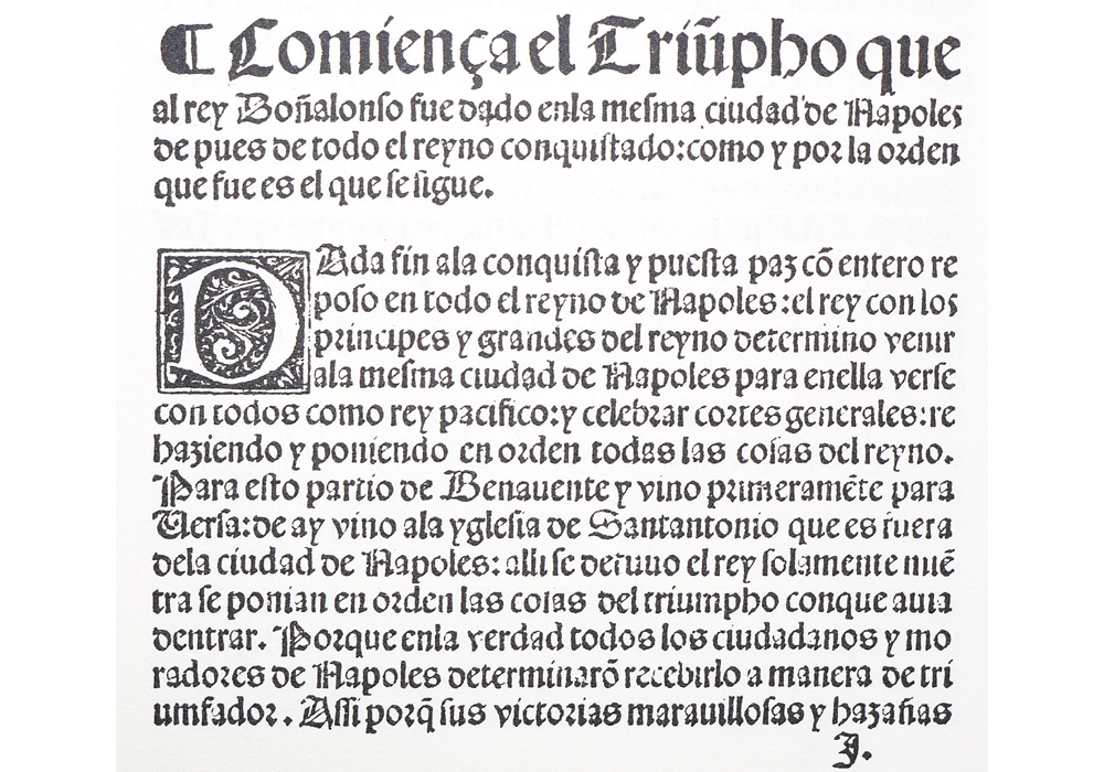 Dichos Alfonso Magnánimo-Panormitano-Jofre-Incunabula & Ancient Books-facsimile book-Vicent García Editores-13 Conquest of Naples