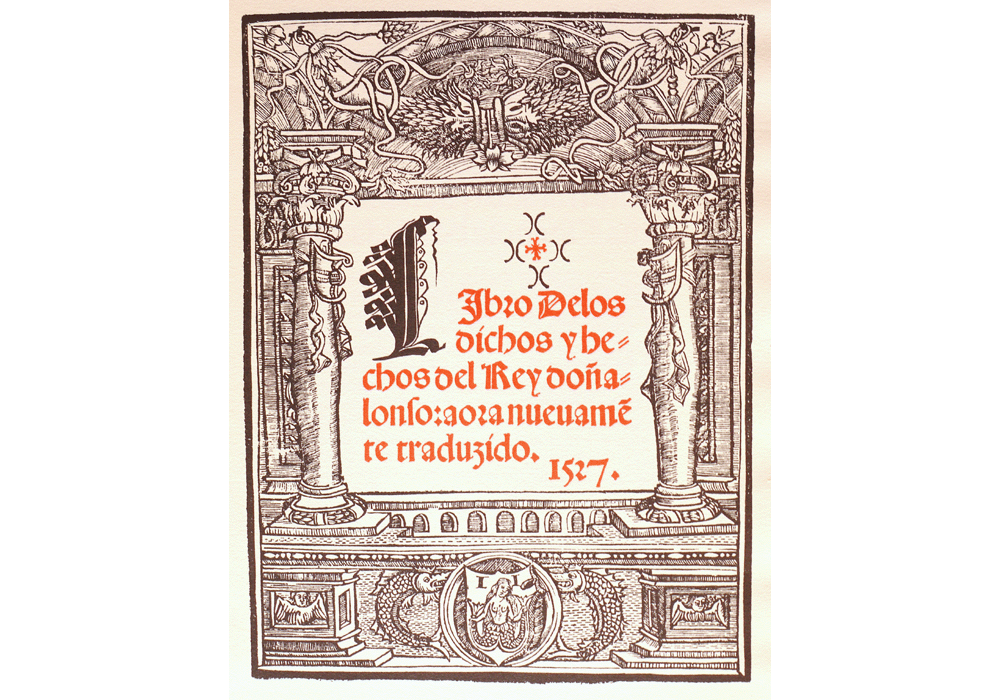 Dichos Alfonso Magnánimo-Panormitano-Jofre-Incunabula & Ancient Books-facsimile book-Vicent García Editores-2 Title