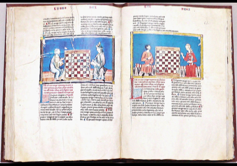 Libro Ajedrez Dados Tablas-Alfonso X Wise-Chest-Manuscript-Illuminated codex-facsimile book-Vicent García Editores-1 Opened.