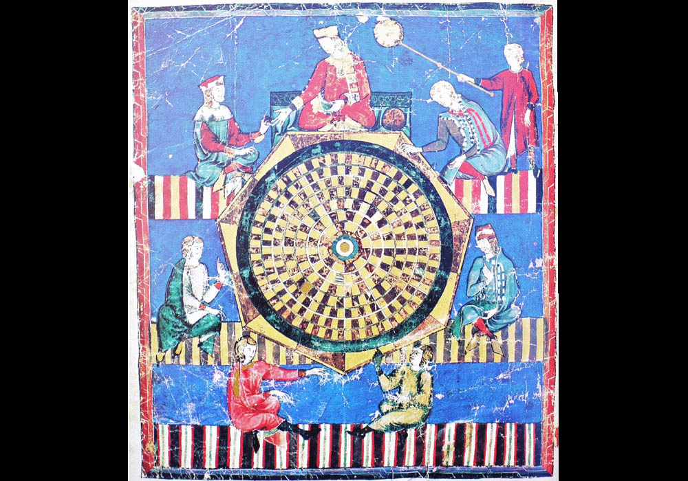 Libro Ajedrez Dados Tablas-Alfonso X Wise-Chest-Manuscript-Illuminated codex-facsimile book-Vicent García Editores-10 Tables Game.