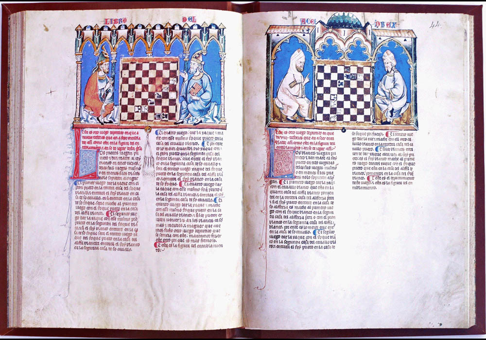 Libro Ajedrez Dados Tablas-Alfonso X Wise-Chest-Manuscript-Illuminated codex-facsimile book-Vicent García Editores-11