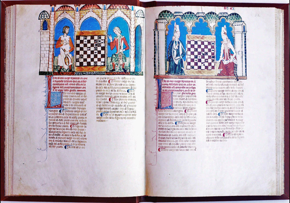 Libro Ajedrez Dados Tablas-Alfonso X Wise-Chest-Manuscript-Illuminated codex-facsimile book-Vicent García Editores-12.