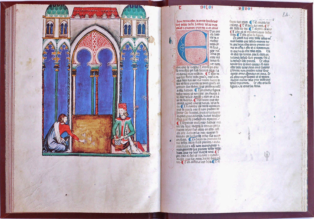 Libro Ajedrez Dados Tablas-Alfonso X Wise-Chest-Manuscript-Illuminated codex-facsimile book-Vicent García Editores-14 Commentary Vol Cover