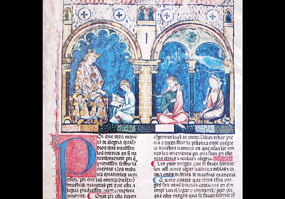 Libro Ajedrez Dados Tablas-Alfonso X Wise-Chest-Manuscript-Illuminated codex-facsimile book-Vicent García Editores-2 Beginning.