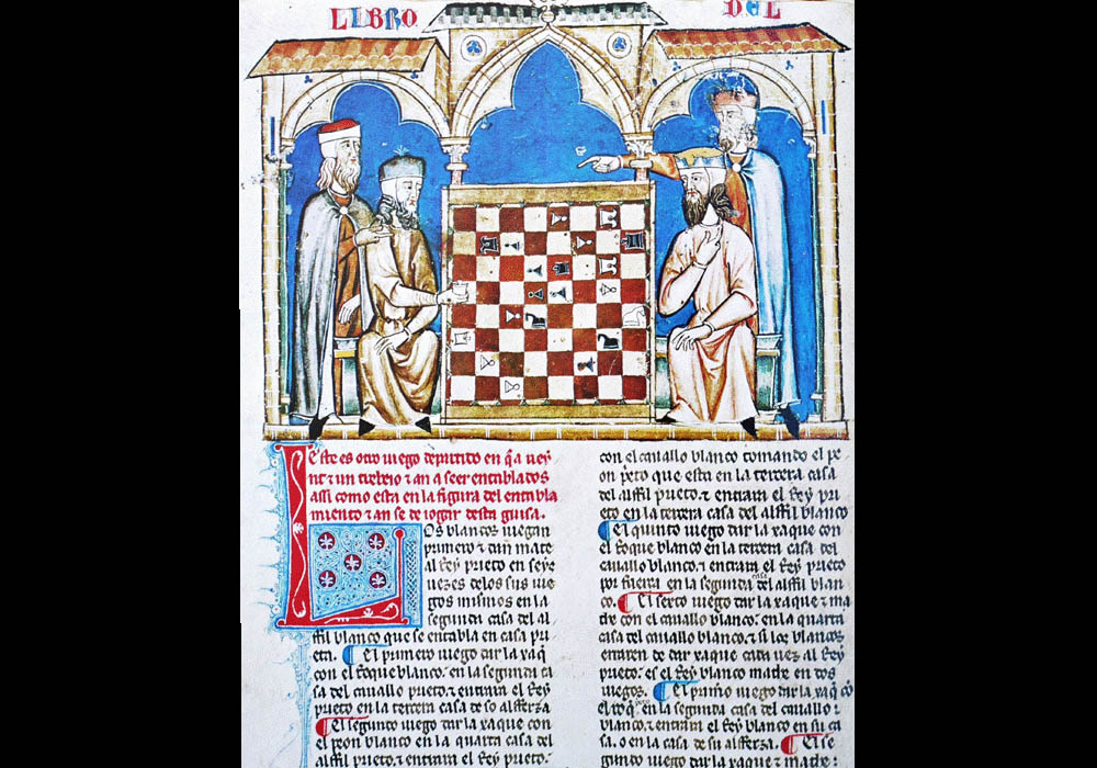 Libro Ajedrez Dados Tablas-Alfonso X Wise-Chest-Manuscript-Illuminated codex-facsimile book-Vicent García Editores-4 fol 21v.