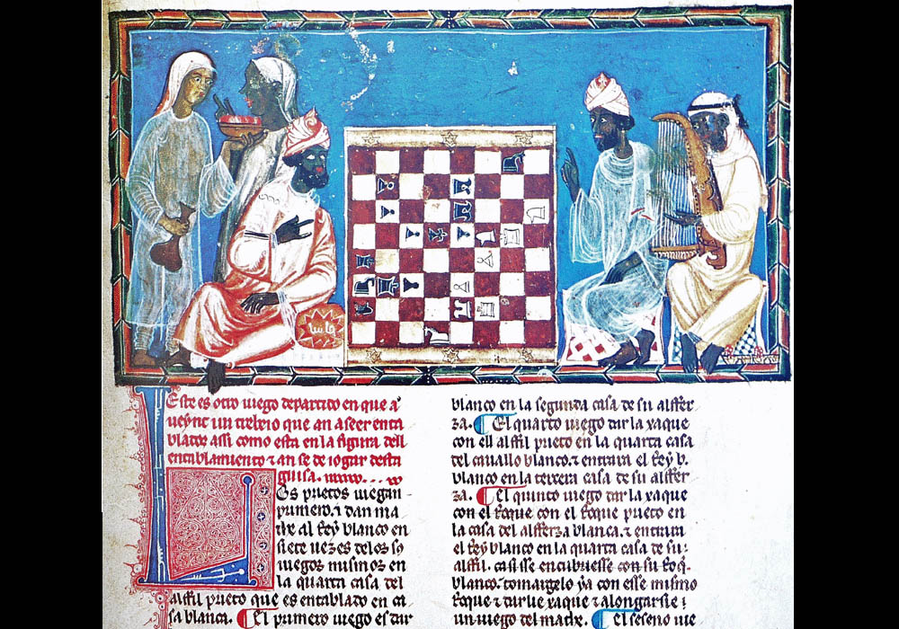 Libro Ajedrez Dados Tablas-Alfonso X Wise-Chest-Manuscript-Illuminated codex-facsimile book-Vicent García Editores-5 fol 22r.