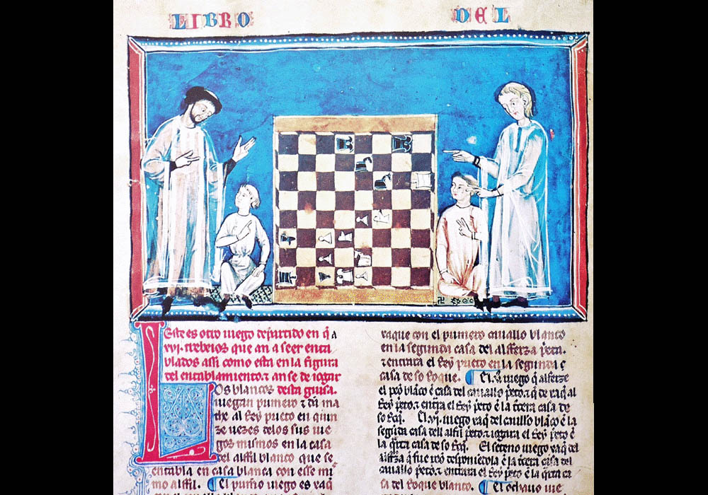 Libro Ajedrez Dados Tablas-Alfonso X Wise-Chest-Manuscript-Illuminated codex-facsimile book-Vicent García Editores-7 fol 33v.