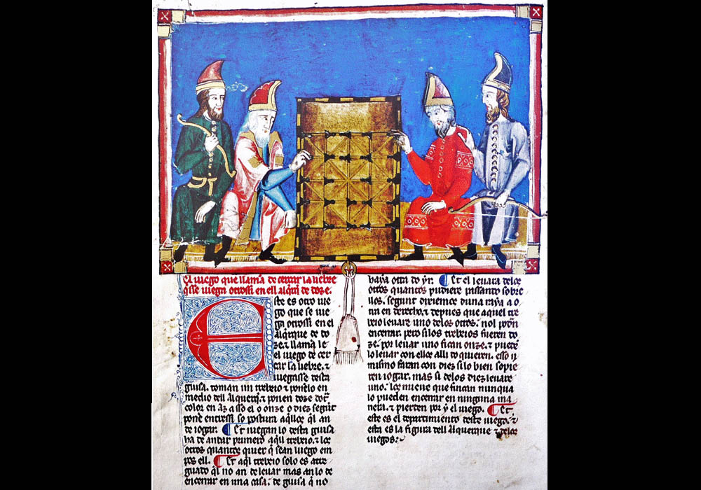 Libro Ajedrez Dados Tablas-Alfonso X Wise-Chest-Manuscript-Illuminated codex-facsimile book-Vicent García Editores-9 Immobilize Hare Game.