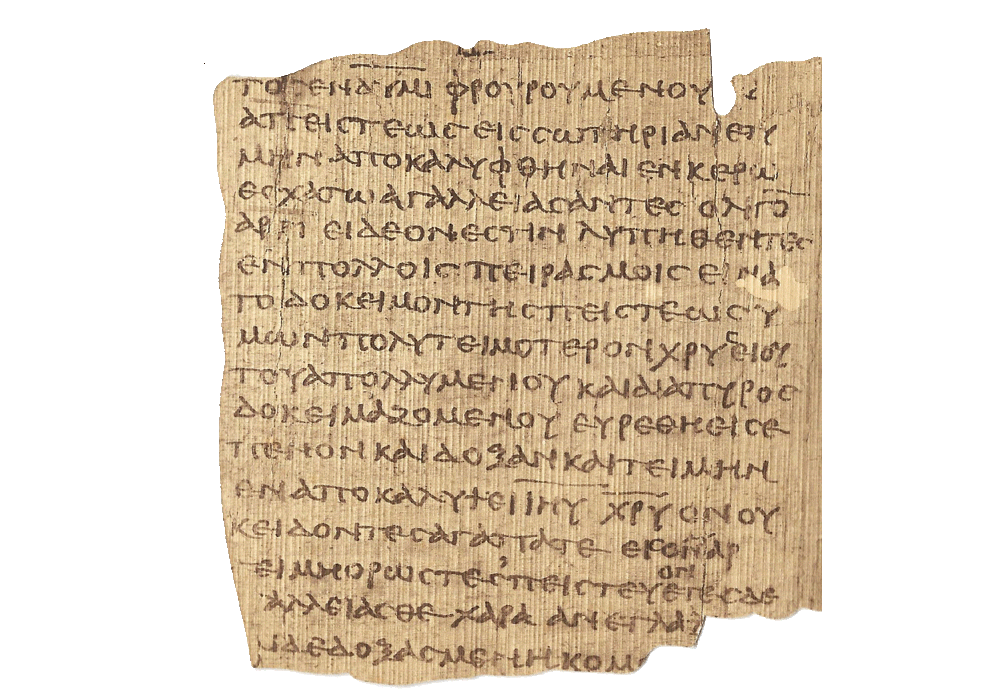Epistles of Saint Peter (The Bodmer Papyri VIII)- manuscript-facsimile book-Vicent García Editores-2 Page.