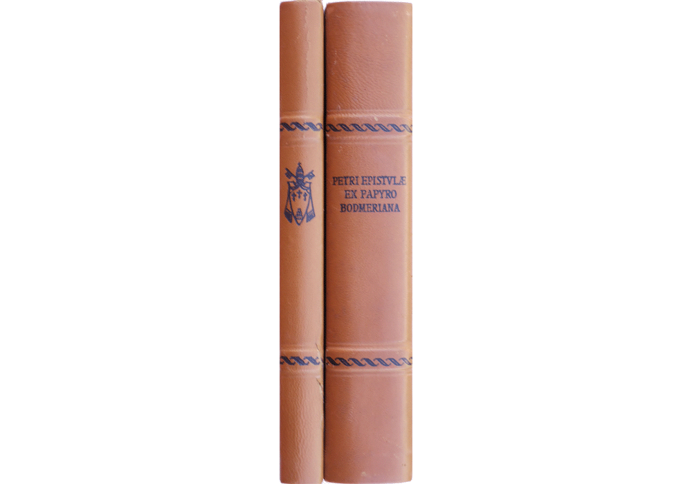 Epistles of Saint Peter (The Bodmer Papyri VIII)- manuscript-facsimile book-Vicent García Editores-7 Spines.