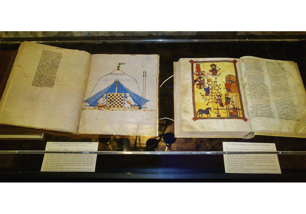 Facsimile codices of Book of Chess and Beatus Liebanensis