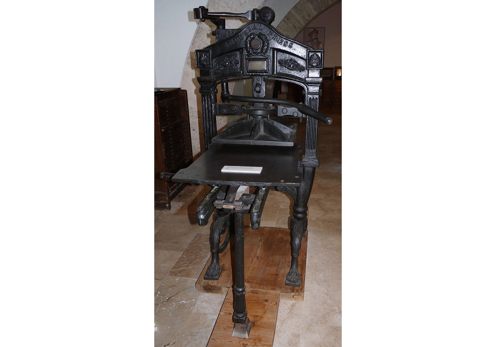 Iron printing press. Model Imperial. 1828