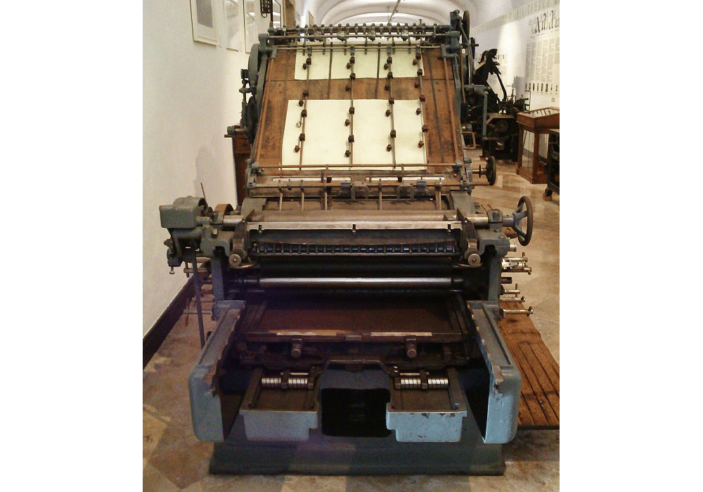 Automatic typographic printing press Saroglia