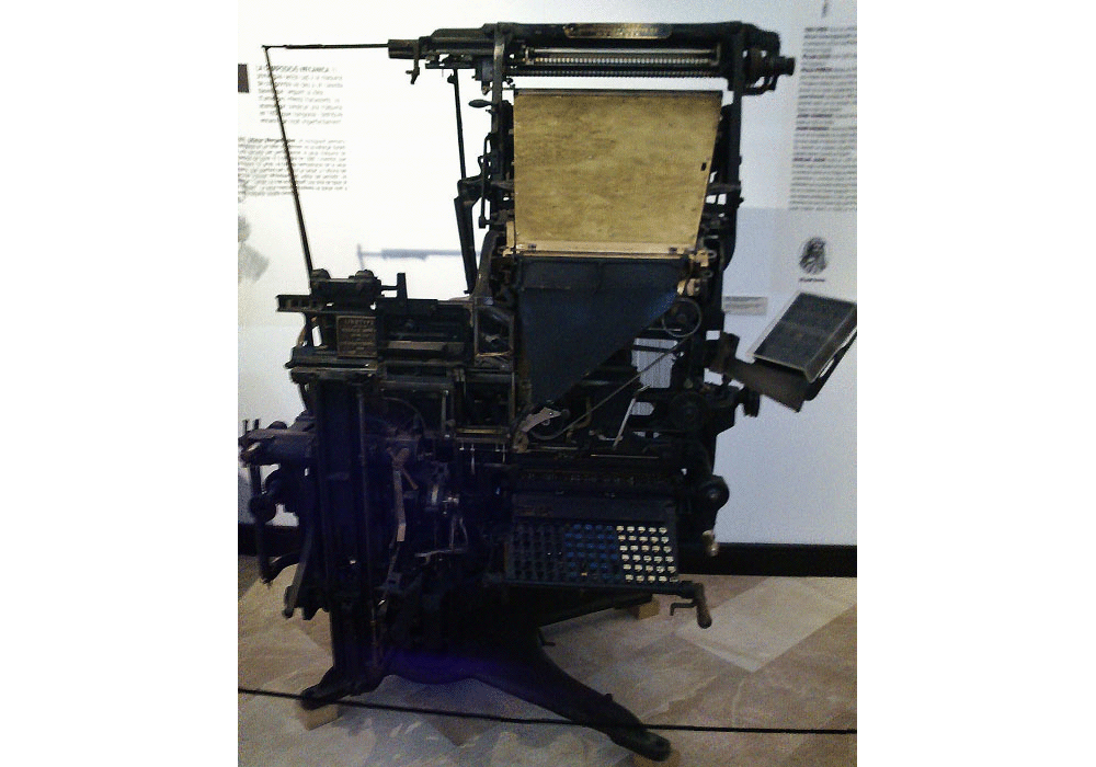 Linotype. Composer of types. Model B. By Mergenthaler Linotype Cny. 1920
