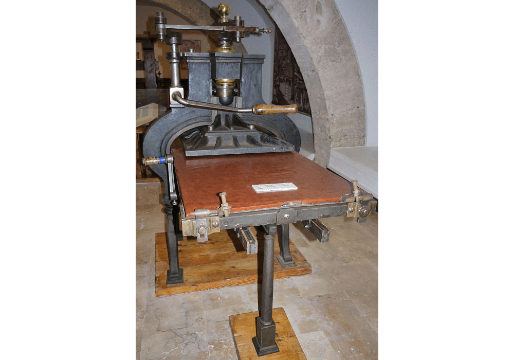 Iron printing press. Model Stanhope. 1805