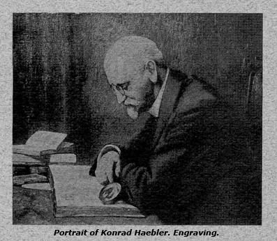 Portrait of Konrad Haebler (Engraving)
